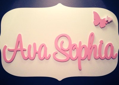 Girls Name Plaque 8