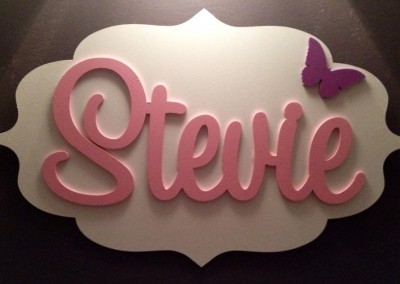 Girls Name Plaque 9