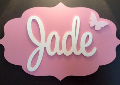 Girls Name Plaque 10