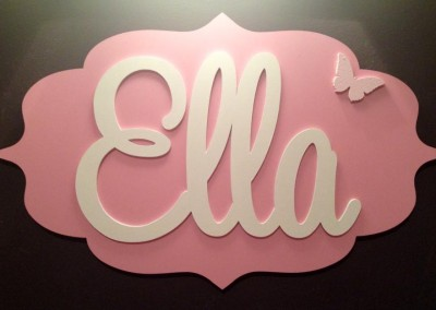 Girls Name Plaque 12