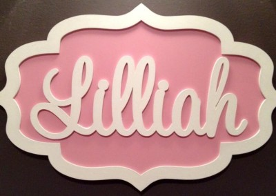 Girls Name Plaque 13