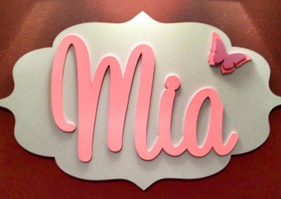 Girls Name Plaque 14