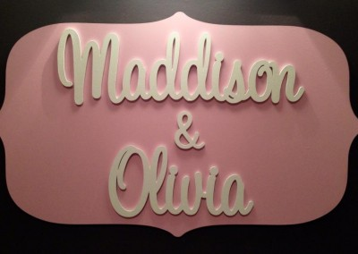 Girls Name Plaque 15