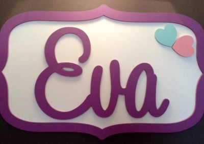 Girls Name Plaque 16