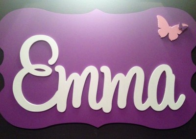Girls Name Plaque 17