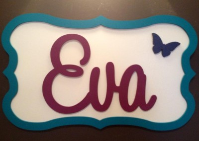 Girls Name Plaque 18