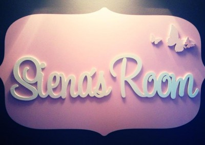 Girls Name Plaque 20