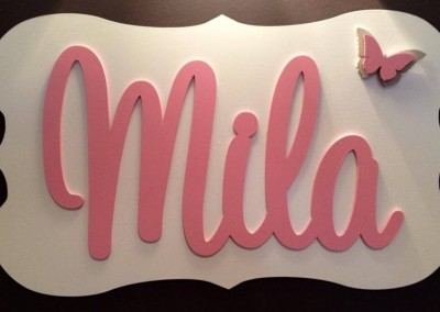 Girls Name Plaque 21