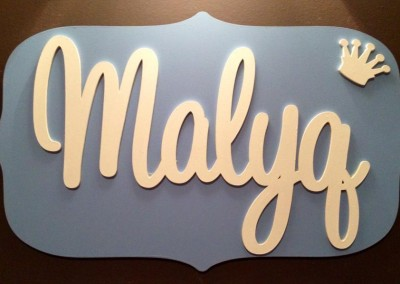 Boys Name Plaque 30