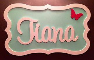 Girls Name Plaque 60