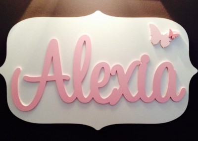 Girls Name Plaque 22