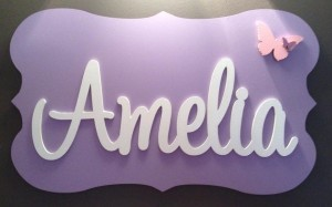 Girls Name Plaque 23