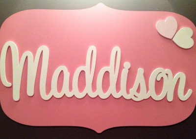 Girls Name Plaque 24