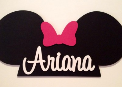 Girls Name Plaque 25