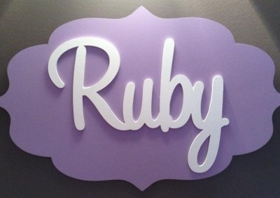 Girls Name Plaque 26