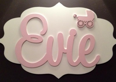 Girls Name Plaque 29