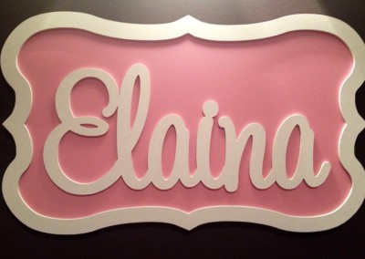 Girls Name Plaque 31