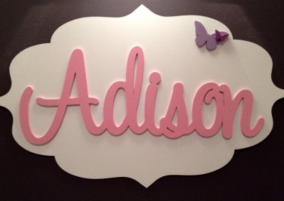 Girls Name Plaque 33