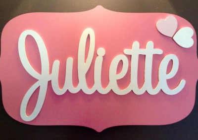 Girls Name Plaque 34