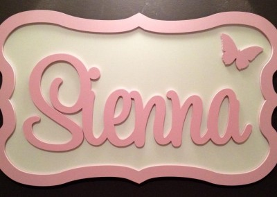 Girls Name Plaque 35