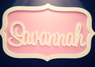 Girls Name Plaque 38