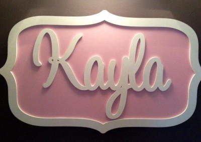 Girls Name Plaque 41