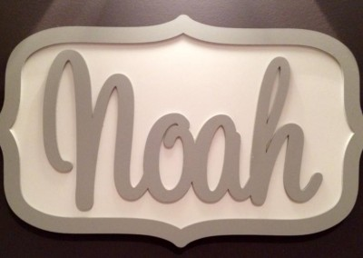 Boys Name Plaque 40