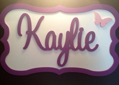 Girls Name Plaque 42