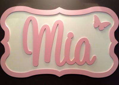 Girls Name Plaque 44