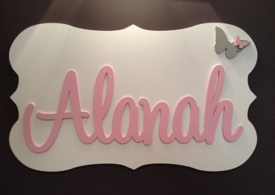Girls Name Plaque 46
