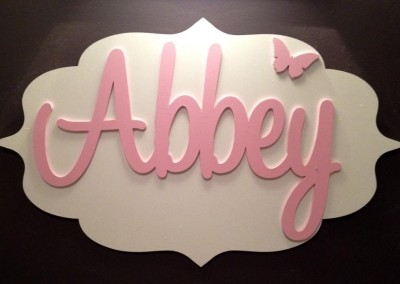 Girls Name Plaque 47
