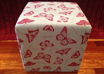 red butterfly Ottoman