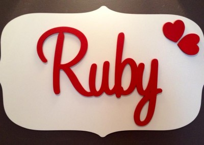Girls Name Plaque 5