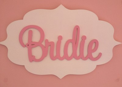 Girls Name Plaque 49