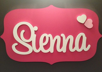 Girls Name Plaque 50