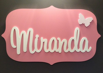 Girls Name Plaque 52