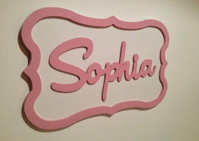 Girls Name Plaque 54