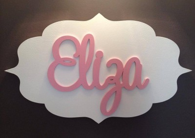 Girls Name Plaque 55