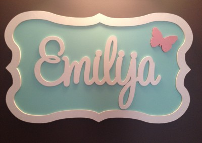 Girls Name Plaque 57