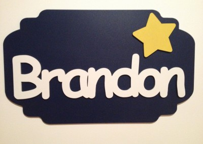 Boys Name Plaque 20