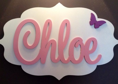 Girls Name Plaque 1