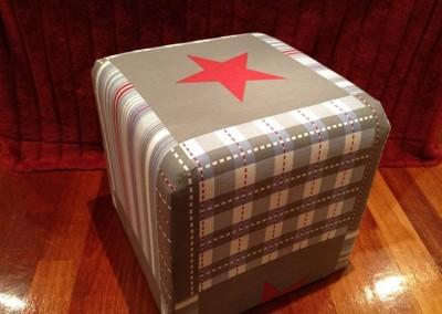 star & stripes grey Ottoman