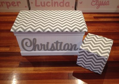 Christian grey/white chevron